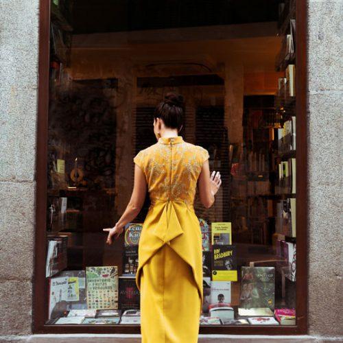 Vestido amarillo Elena de Frutos